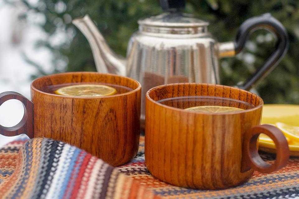 Hot Tea Kettle and Mugs